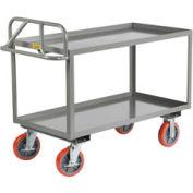Little Giant® Welded Shelf Truck ERGL-2436-8PYBK, Lip Shelves, 24 x 36