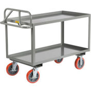 Little Giant® Welded Shelf Truck ERGL-2448-8PYBK, Lip Shelves, 24 x 48