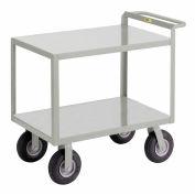 Little Giant® Instrument Cart w/Hand Guard, Flush Shelves, 30 x 48