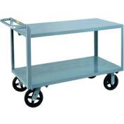Little Giant® Merchandise Collector G-3048-6MR Flush Shelves 30x48 6 x 2 Rubber Wheels