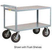 Little Giant® Merchandise Collector GL-2448-10SR Tray Type Shelves 24 x 48 Rubber Wheels