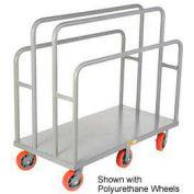 Little Giant® Lumber & Panel Cart LC-3048-6MR, 30 x 48, Mold-on Rubber Wheels