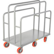 Little Giant® Lumber & Panel Cart LC-3048-6PY, 30 x 48, Polyurethane Wheels