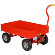 "Little Giant® Nursery Wagon Truck LDW-2436-X6-10 - Steel Deck - 6"" Sides - 10 x 2.75 Rubber"
