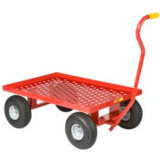 Little Giant® Nursery Wagon Truck LWP-2436-10 Perforated Deck 10 x 2.50 Rubber Wheel