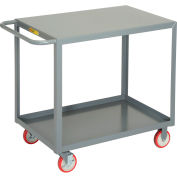 Little Giant® All Welded Service Cart LG-2436-BRK, 2 Shelves Flush Top, 24 x 36