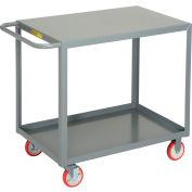 Little Giant® All Welded Service Cart LG-2436-BRK, 2 Flush Shelves, 24 x 36
