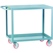 Little Giant® All Welded Service Cart LG-2448-BRK, 2 Flush Shelves, 24 x 48