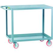 Little Giant® All Welded Service Cart LG-3048-BRK, 2 Flush Shelves, 30 x 48