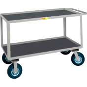 Little Giant® Flush Handle Instrument Cart Lip Non-Slip Vinyl Shelves 30x48