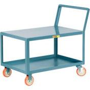 Little Giant® Low Deck Shelf Truck LK-1824-5PYBK, Flush Top, Sloped Handle, 18 x 24