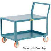 Little Giant® Low Deck Shelf Truck LKL-1824-5PYBK, Lip Shelves, Sloped Handle, 18 x 24