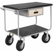Little Giant® Instrument Cart w/Drawer, Pneumatic Wheels