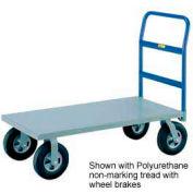 Little Giant® HD Platform Truck NBB-2436-8MR-FL - 24 x 36 - MORT Wheels with Floor Lock