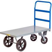 Little Giant® Heavy Duty Platform Truck NBH-3048-MR - 30 x 48 - Rubber Wheels - 3000 Lb. Cap.