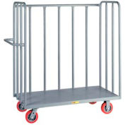 Little Giant® 3-Sided Bulk Truck OT3048-6PY, Tubular Steel Sides, 30 x 48, Poly Whls