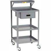Little Giant® Mobile Shop Stand PSR-2224-3RBK-DR, 24 x 22