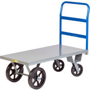 Little Giant® Heavy Duty Platform Truck NBH-2448-MR 24x48 Rubber Wheels 3000 Lb. Capacity