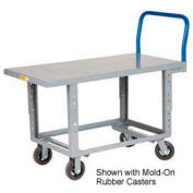 Little Giant® Adj. Work Height Platform Truck RNB-3060-6PY-AH - 30 x 60 - Polyurethane Wheels