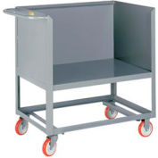 Little Giant® Raised Platform Box Truck RP3S-2436-6PY, 3 Solid Sides 24x36 2000 Capacity