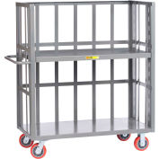 Little Giant® 3-Sided Adjustable Truck S2-A-2460-6PY, Slat Sides, 24 x 60