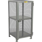 "Little Giant® Welded Ventilated Compact Storage Locker, 24""Wx24""Dx52""H, Gray, Assembled"
