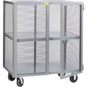 Little Giant® Mobile Storage Locker SC-2448-6PH, 1 Center Shelf, 24x 48 Phenolic Wheels
