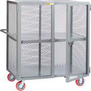 "Little Giant® HD Job Site Security Box Truck w/Center Shelf, 24x60, 6"" Poly Wheels"