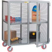 Little Giant® Mobile Storage Locker SC-3072-6PPY 1 Center Shelf 30x72 Polyurethane Whls