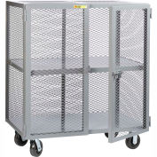 Little Giant® Mobile Storage Locker SC-3672-6PH, 1 Center Shelf, 36x72, Phenolic Wheels