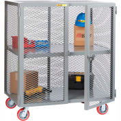 Little Giant® Mobile Storage Locker SC-3672-6PPY 1 Center Shelf 36x72 Polyurethane Whls