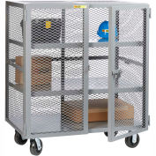 Little Giant® Mobile Storage Locker SC2-3660-6PH 2 Center Shelves 36x60 Phenolic Wheels