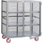Little Giant® Mobile Storage Locker SC2-3672-6PPY, 2 Center Shelves, 36 x 72, Poly Whls