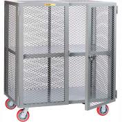 Little Giant® Mobile Storage Locker SCA-3060-6PPY, Adjustable Shelf, 30 x 60, Poly Whls