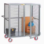 "Little Giant® HD Job Site Security Box Truck w/Handle, No Center Shelf, 30x60, 6"" Poly Wheels"