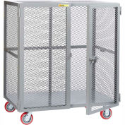 Little Giant® Mobile Storage Locker SCN-3672-6PPY, 36 x 72, Polyurethane Wheels
