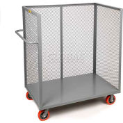 Little Giant® 3-Sided Bulk Truck T1-2448-6PY Mesh Sides 24x48 6 x 2 Polyurethane Wheels