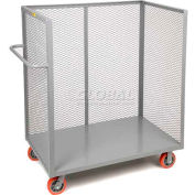 Little Giant® 3-Sided Bulk Truck T1-3048-6PY Mesh Sides 30x48 6 x 2 Polyurethane Wheels