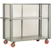 Little Giant® 3-Sided Adjustable Truck T2-A-2448-6PY, Mesh Sides, 24 x 48