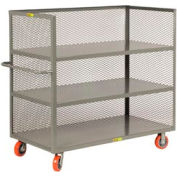 Little Giant® 3-Sided Truck T3-3060-6PY, 3 Shelves, Mesh Sides, 30 x 60
