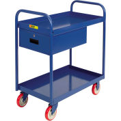 """Little Giant® Tray Truck with Drawer TS-2436-5PY-DR, 24 x 36, 1-1/2"""" Deep Tray"""