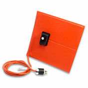 """BriskHeat® Silicone Rubber Heat Blanket For Metal, With Plug, 50-425°F, 6""""Wx12""""L, 120V"""