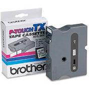 TX Series Tape Cartridge for PT-8000, PT-PC, PT-30/35, Black on White, 1 wide