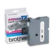 TX Series Tape Cartridge for PT-8000, PT-PC, PT-30/35, White on Black, 1 wide