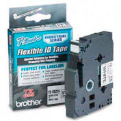 TZ Tape Cartridge for P-Touch labelers, flexible tape, Black on White, 1/2w