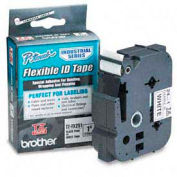 TZ Tape Cartridge for P-Touch labelers, flexible tape, Black on White, 1w