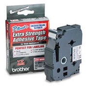 TZ Extra-Strength Adhesive Tapes-Laminated, Black on Matte Silver, 3/4w