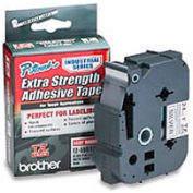 TZ Extra-Strength Adhesive Tapes-Laminated, Black on Matte Silver, 1w