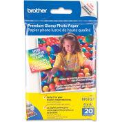 """Brother® Innobella Premium Glossy Photo Paper BP61GLP, 4"""" x 6"""", White, 20/Pack"""