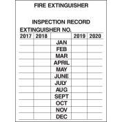 """Brady® 103632 Fire Extinguisher Inspection Record Tags, 3""""H X 2-1/4""""W, 10/Pkg, 2-1/4""""W x 3""""H"""